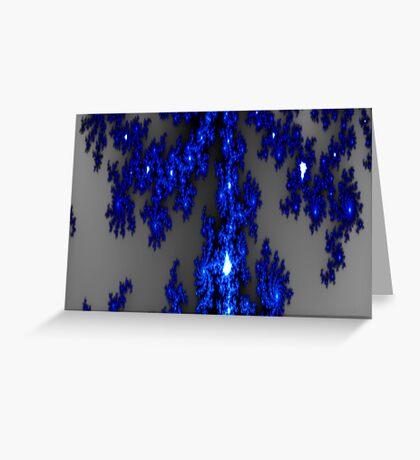 Blue Ice Fractal Greeting Card