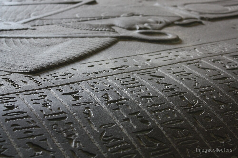 ancient words in London by Imagecollectors