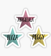 Angelica, Eliza & Peggy Sticker