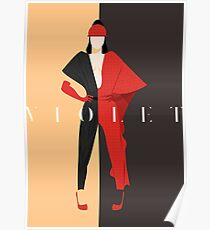 Violet Chachki - Tartan Fantasy Poster