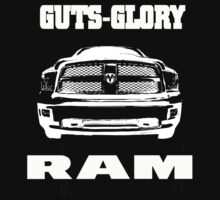 Glory Guts Ram white | Unisex T-Shirt