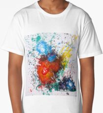 Moments Abstract Red Heart  Long T-Shirt