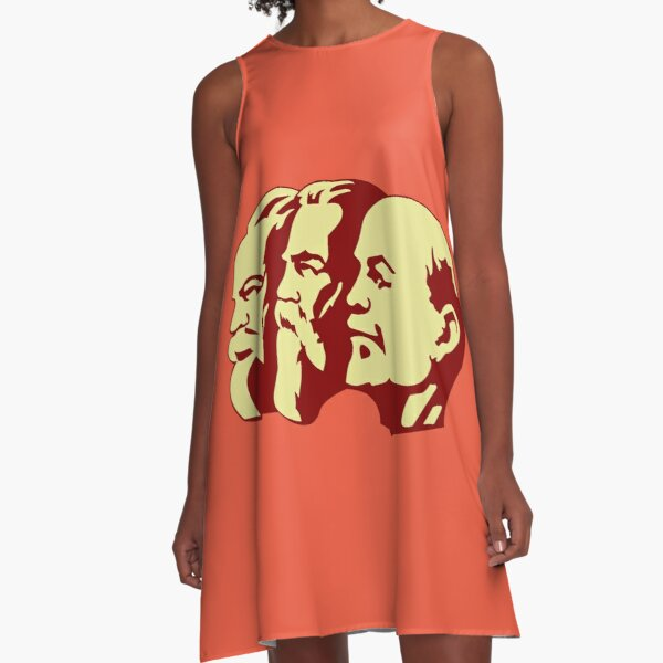 MARX ENGELS LENIN A-Line Dress