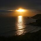 Sunset at Poldhu Point, Cornwall by Marilyn Harris