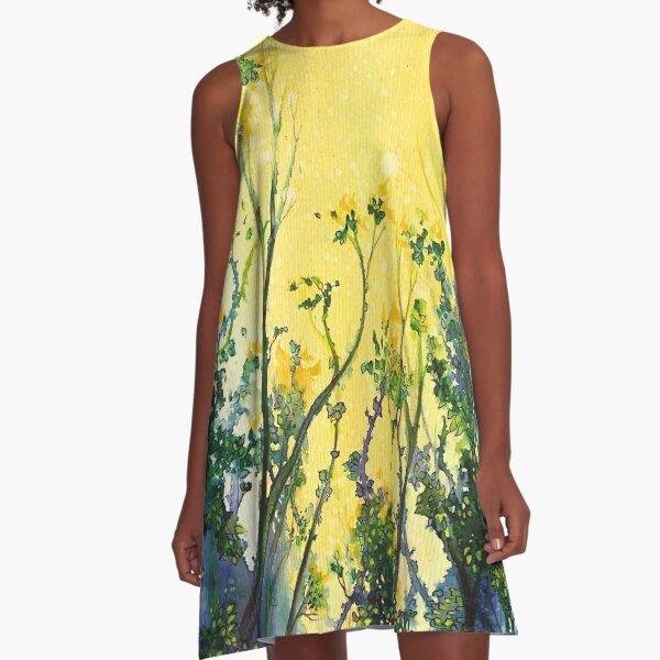 Forest Light A-Line Dress