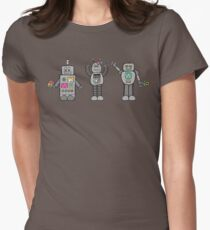 Robots in Spring Womens Fitted T-Shirt