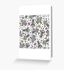 Robots in Spring Greeting Card
