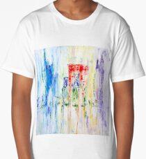 Rainy City Abstract by Masko7 Long T-Shirt