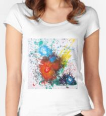 Moments Abstract Red Heart  Women's Fitted Scoop T-Shirt