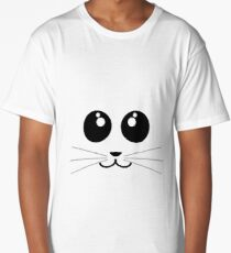 Cute Minimalistic Animal Face - All colours availible Long T-Shirt