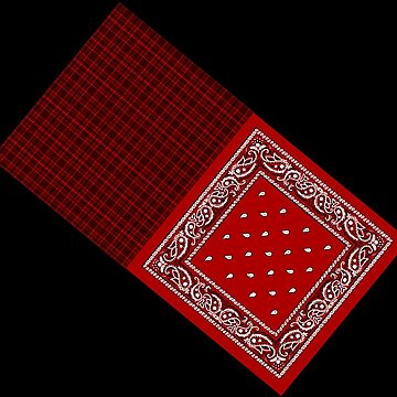 Red Tartan Bandana by AuthenticDesign