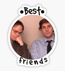 Jim and Dwight - Best Friends Unite! Sticker