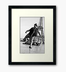 Slyde the Artist 01 (in Paris) Framed Print