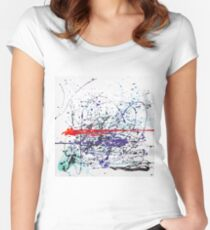 Inside Abstract by Masko7 Women's Fitted Scoop T-Shirt