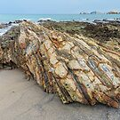 Rockscape at North Head Beach by Marilyn Harris