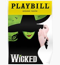 Wicked Broadway Playbill Cover Artwork Poster