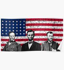 Sherman - Lincoln - Grant Poster