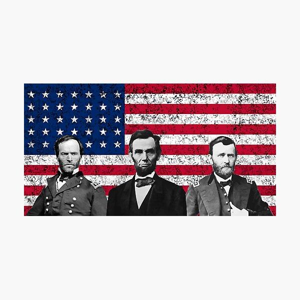 Sherman - Lincoln - Grant Photographic Print
