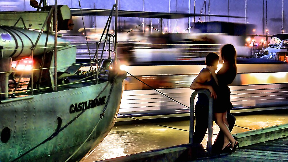 Like two ships that pass in the night... by Paul Louis Villani