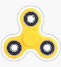 Yellow Fidget Spinner Sticker