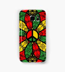Ornamental Peace Mandala - Rasta Colours Samsung Galaxy Case/Skin