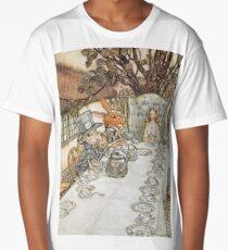 The Mad Hatters Tea Party by Arthur Rackham Long T-Shirt