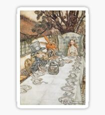The Mad Hatters Tea Party by Arthur Rackham Sticker