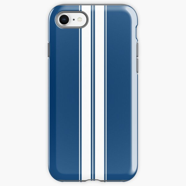 Dark Blue With White Racing Stripes Phone Case iPhone Tough Case