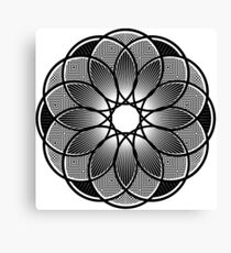Trippy Mandala Canvas Print
