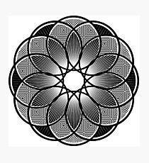 Trippy Mandala Photographic Print