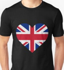 UK Flag Shirt Heart - Brittish Shirt Unisex T-Shirt