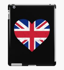 UK Flag Shirt Heart - Brittish Shirt iPad Case/Skin