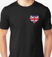 UK Flag Shirt Heart - Brittish Shirt T-Shirt