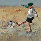 Beach Soccer by Claire McCall