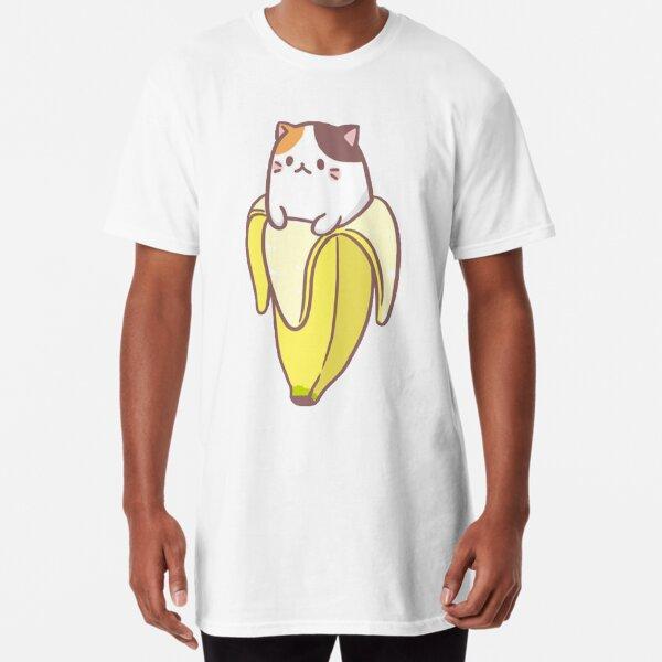 Banana Cat Long T-Shirt