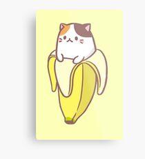Banane Katze Metallbild