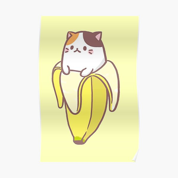 Banana Cat Poster