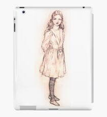 Alice in Wonderland sketch by Arthur Packham iPad Case/Skin