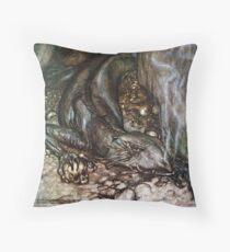 Lazy Lizard by Arthur Rackham Throw Pillow