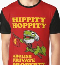 Hippity Hoppity Abolish Private Property Graphic T-Shirt