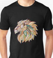 Tribal Lion Head Slim Fit T-Shirt