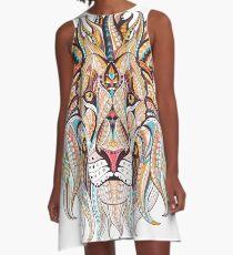 Tribal Lion A-Line Dress