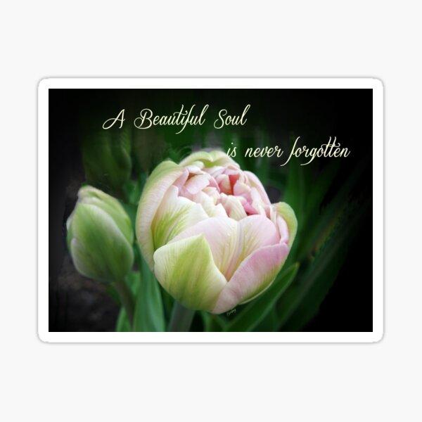 A Beautiful Soul is Never Forgotten Sticker
