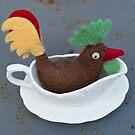 Chicken in gravy boat by Flo Smith