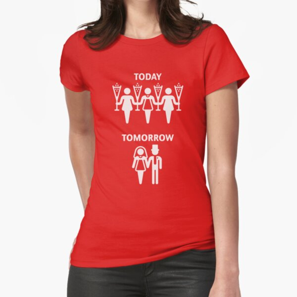 Aujourd'hui - Demain - (Hen Party / White) T-shirt moulant