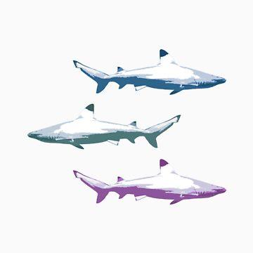 Shark tales by SideWalkChalk