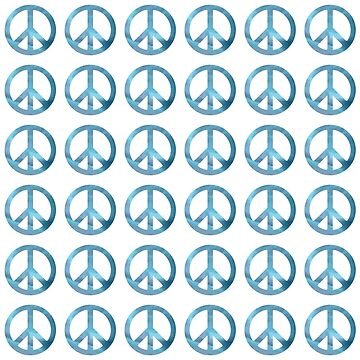 BLUE PEACE SIGN PATTERN by GayRiot