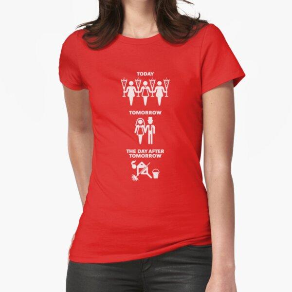 Aujourd'hui - Demain - Le jour après demain (Hen Party / White) T-shirt moulant
