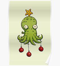Christmas cephalopod Poster