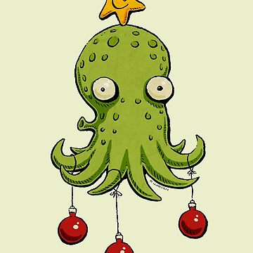 Christmas cephalopod by morden
